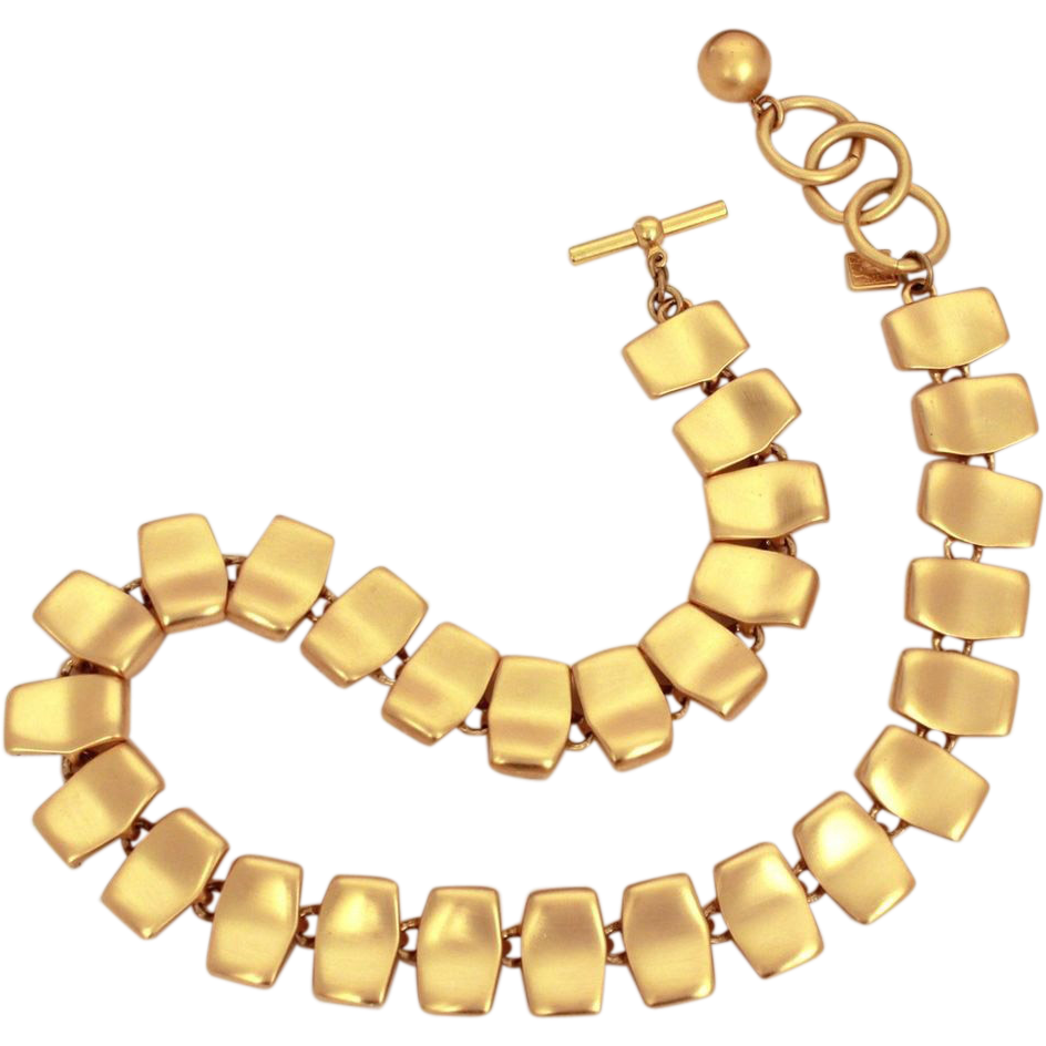 Jewel clipart vintage jewelry. Anne klein necklace matte
