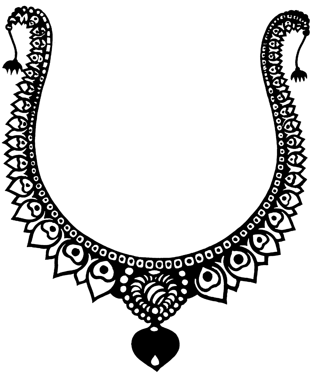 Jewelry clipart. Clip art black and