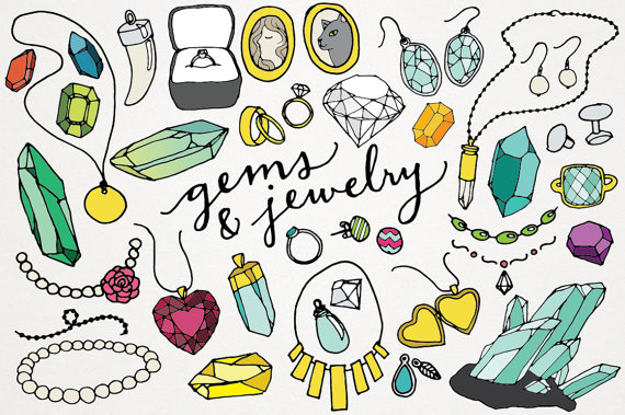 Jewelry clipart. Gems and logos jewels