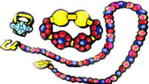 Pencil and in color. Jewelry clipart