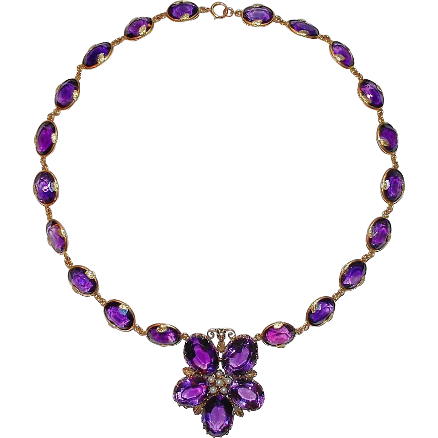 Necklace clipart purple necklace. Raritet antique gallery jewelry