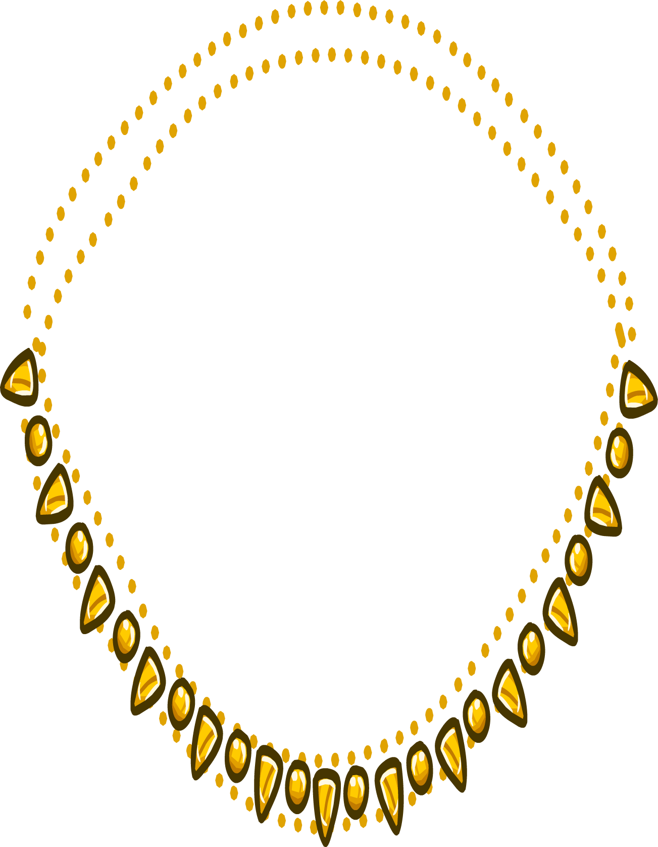 necklace clipart closed neck