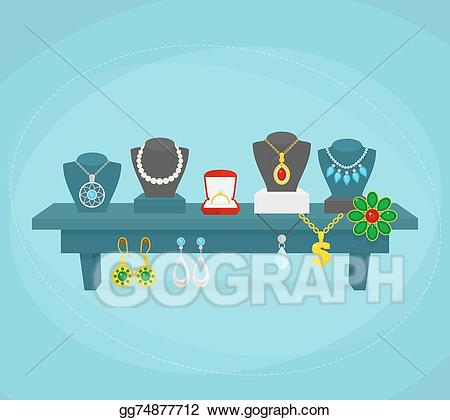Vector concept . Jewelry clipart jewelry display