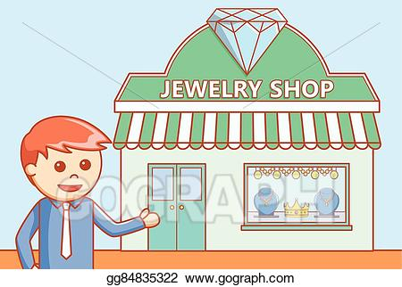 Jewelry clipart jewelry store. Vector art doodle illustration
