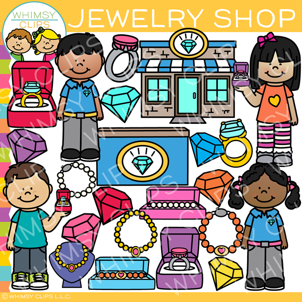 Kids shop clip art. Jewelry clipart jewelry store