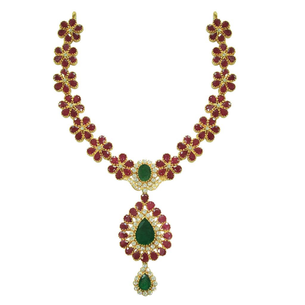 Sanghi jewellers . Necklace clipart gold traditional