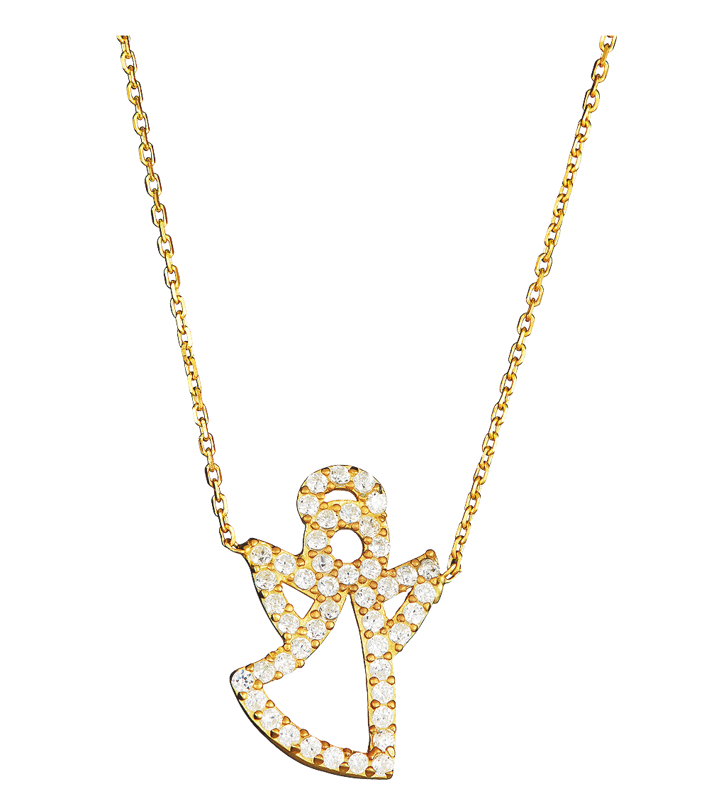 Necklace clipart amazing. Angel necklce gold png