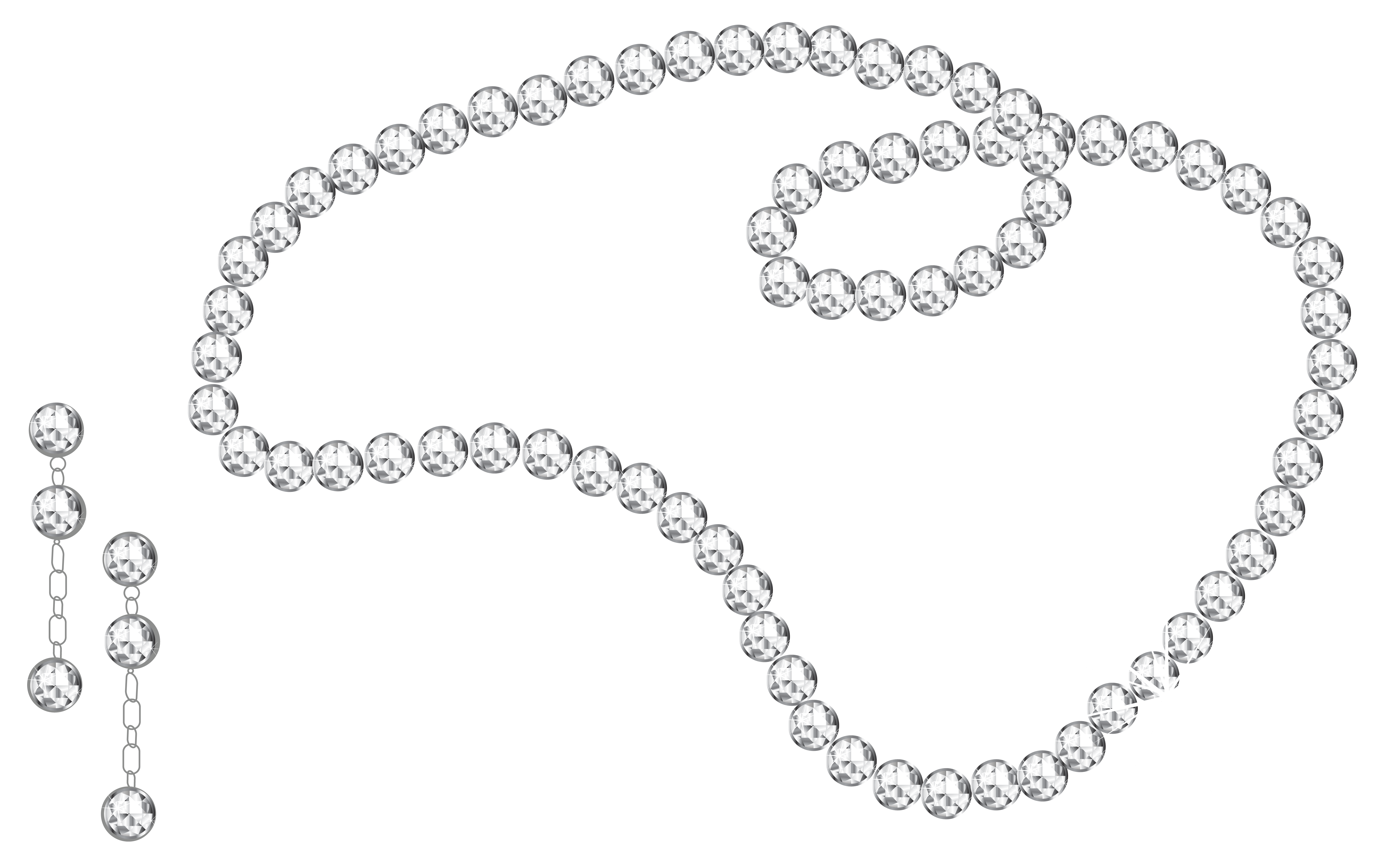 collection of strand. Necklace clipart small black pearl