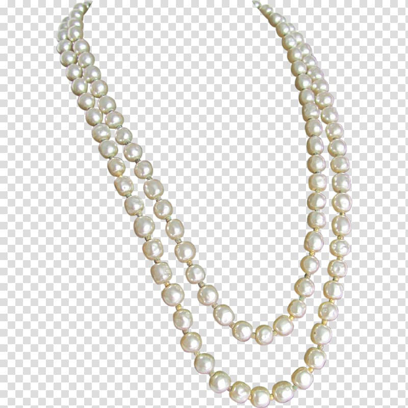 Baroque pearl necklace imitation. Jewelry clipart string