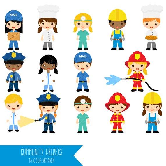 Job clipart. Community helpers clip art