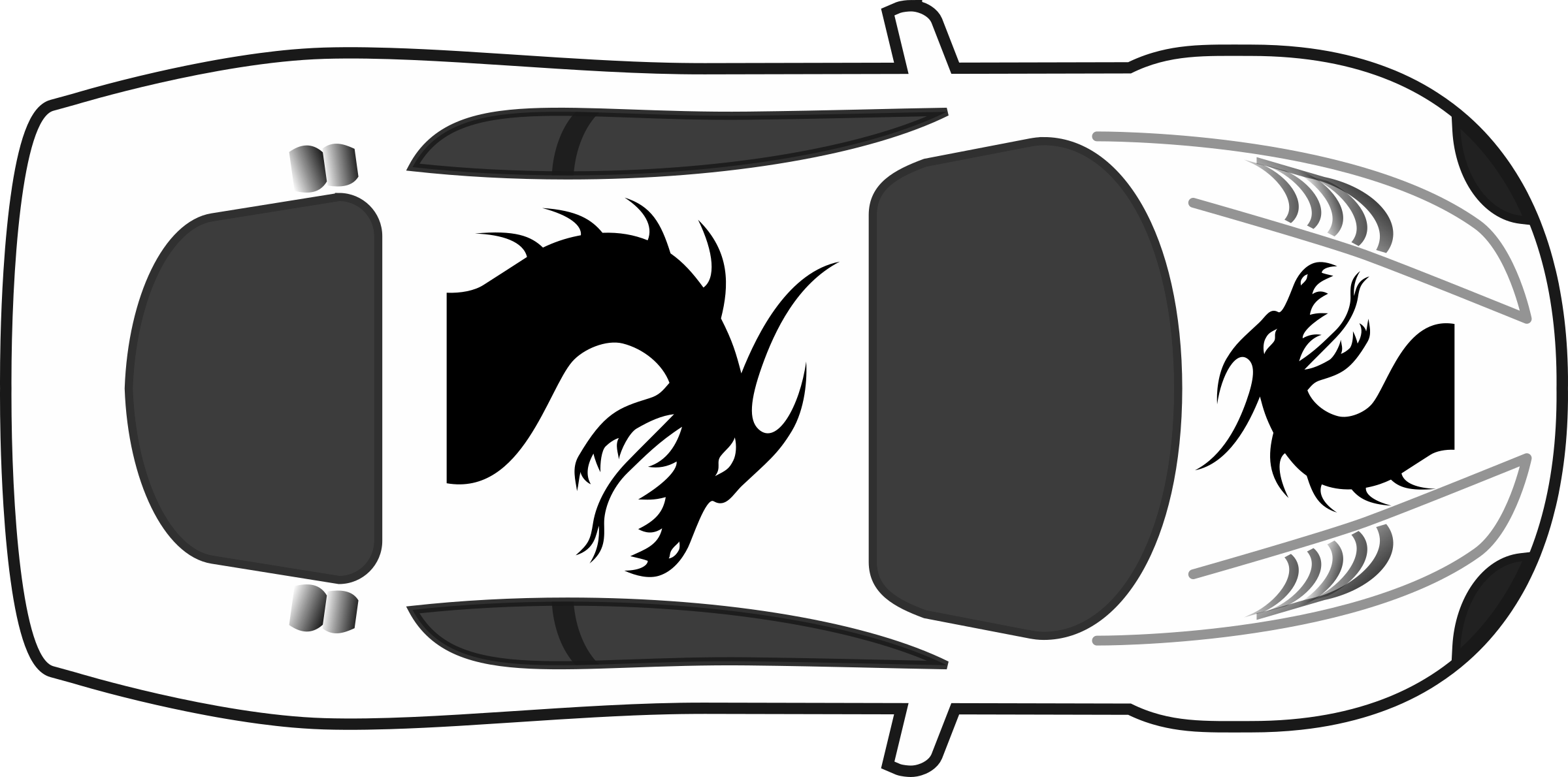 Kind clipart top view. Dragon paint job on