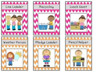 Jobs clipart chart. Preschool classroom job free