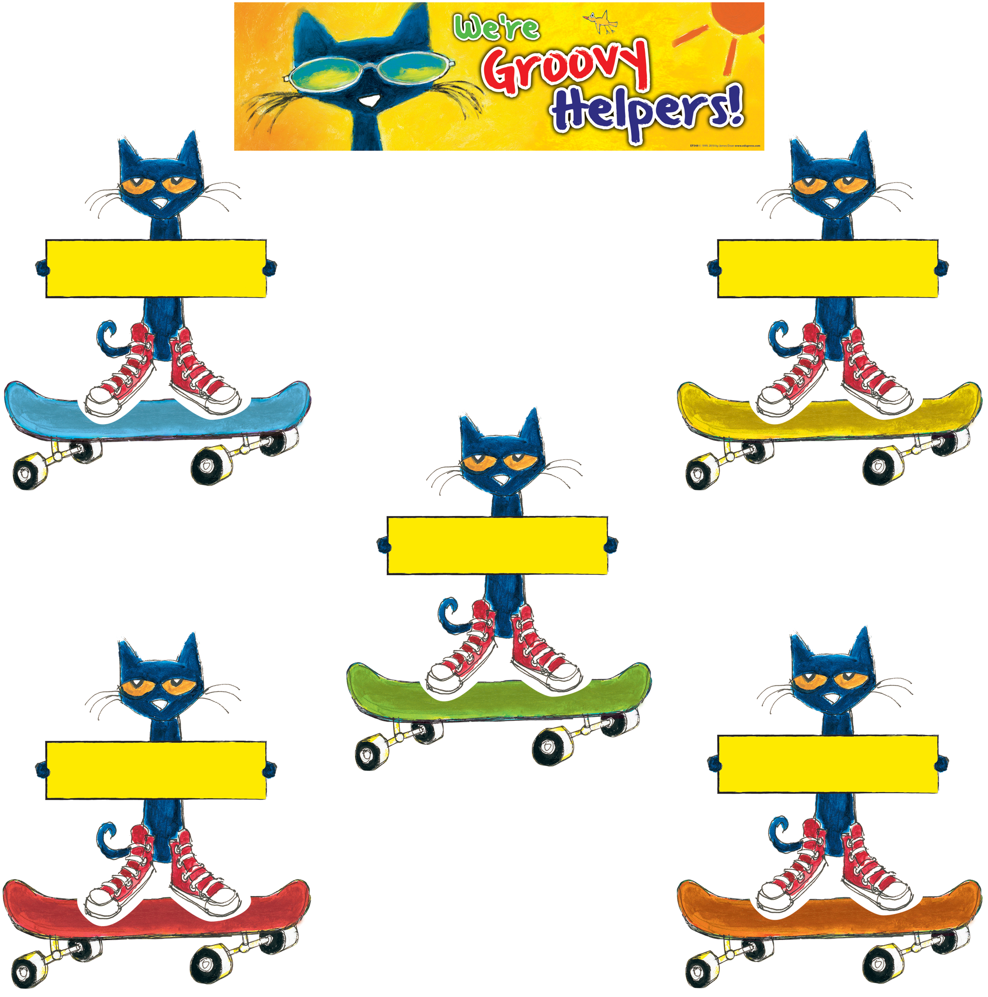 Pete the cat groovy. Jobs clipart chart