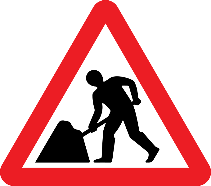 Writer clipart work sign. Traffic file uk svg
