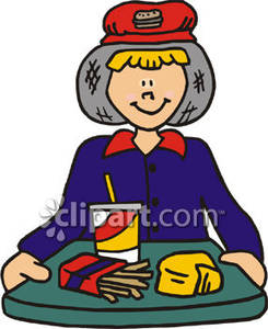 Jobs clipart first job. Fast food royalty free