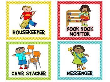 Jobs free and editable. Job clipart kindergarten classroom