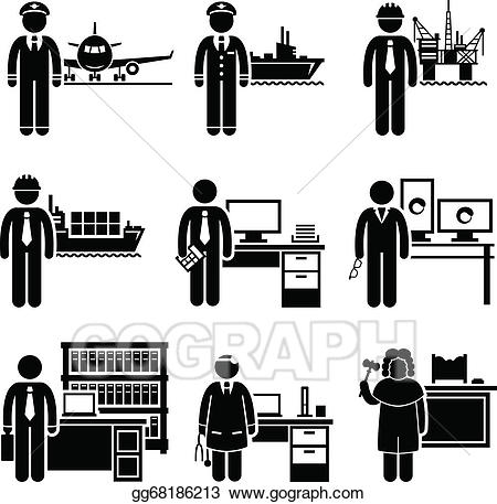 Vector art high income. Jobs clipart professional job