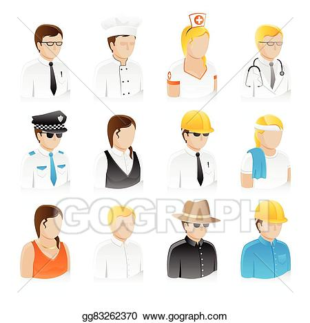 Vector art people collection. Job clipart professional job