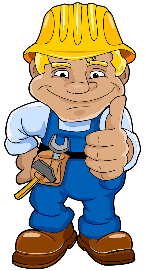 Building construction trades jobs. Job clipart skilled worker