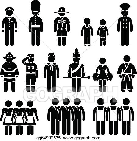 Vector stock outfit clothing. Jobs clipart uniform