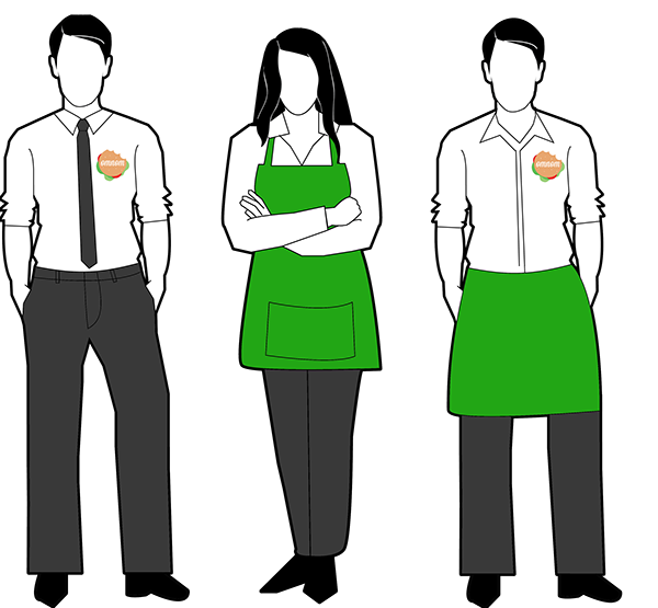 Jobs clipart uniform. Lesson cooperation and appearance