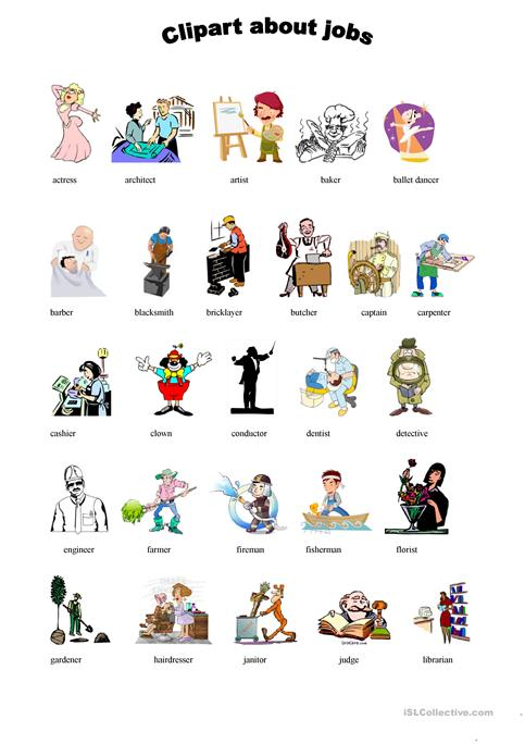 Jobs clipart. Cliparts worksheets about worksheet