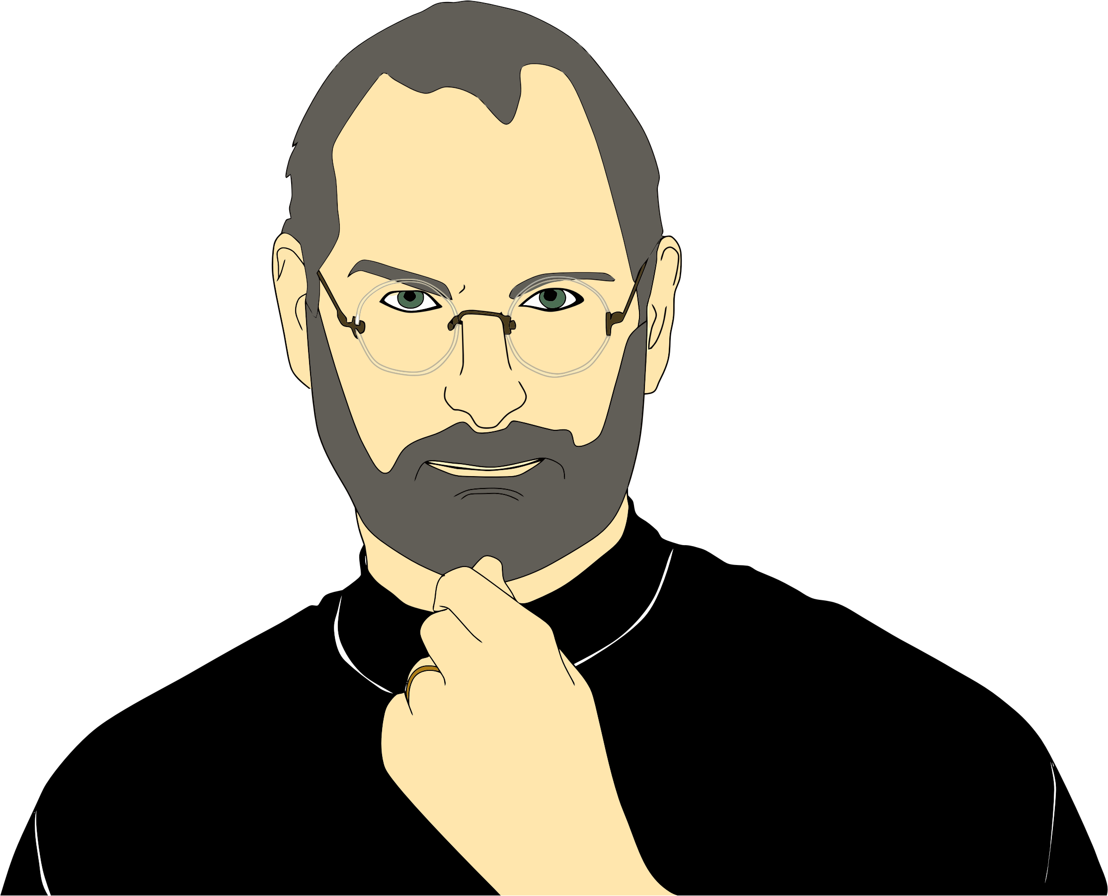 Steve jobs big image. Photo clipart portrait