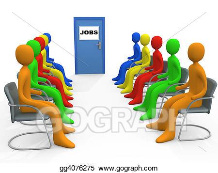 Stock illustrations . Jobs clipart job application