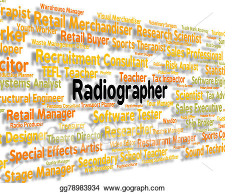 Radiographer represents words and. Jobs clipart job position