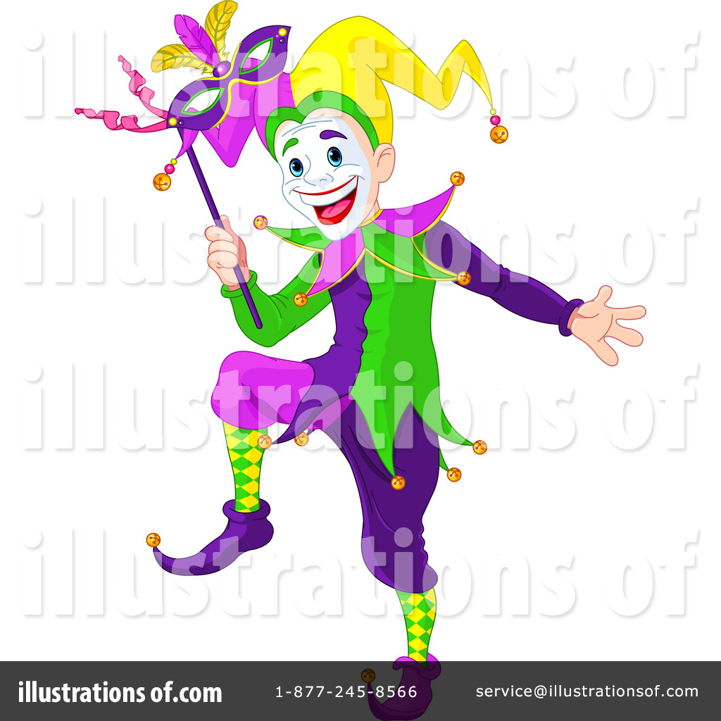 Illustration by pushkin royaltyfree. Joker clipart