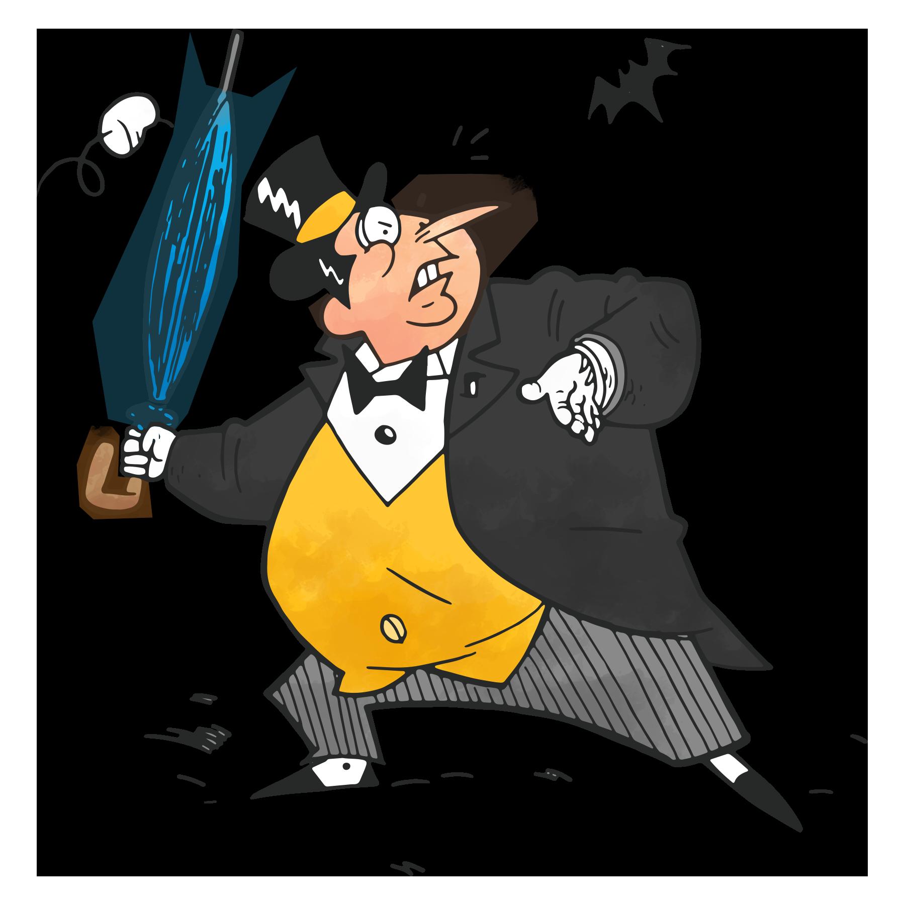 Joker clipart gag gun. The penguin s greatest