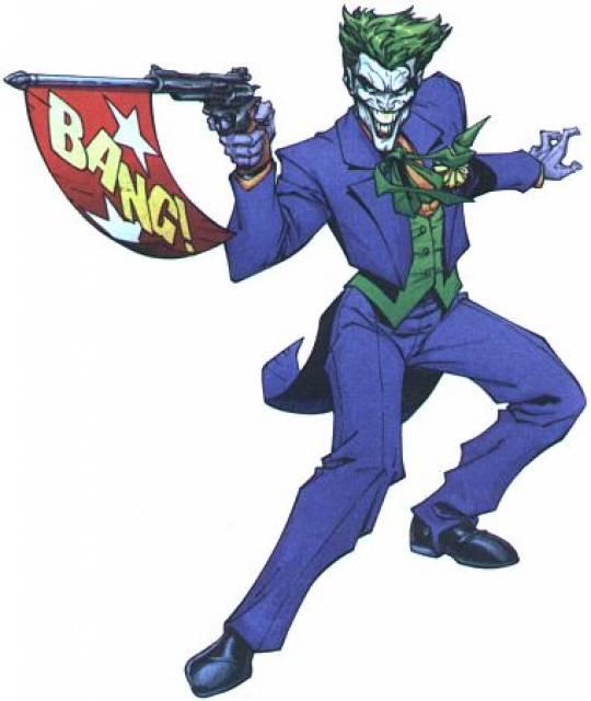 Bang flag object comic. Joker clipart gag gun