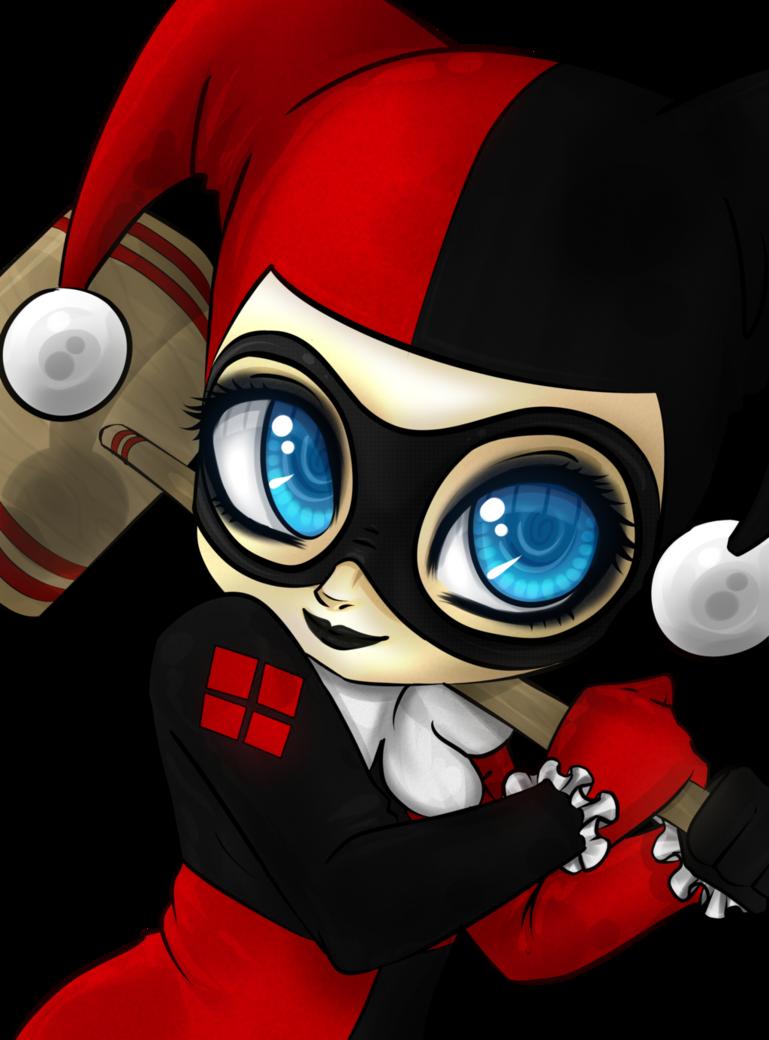 Chibi harley by xxcute. Joker clipart haha