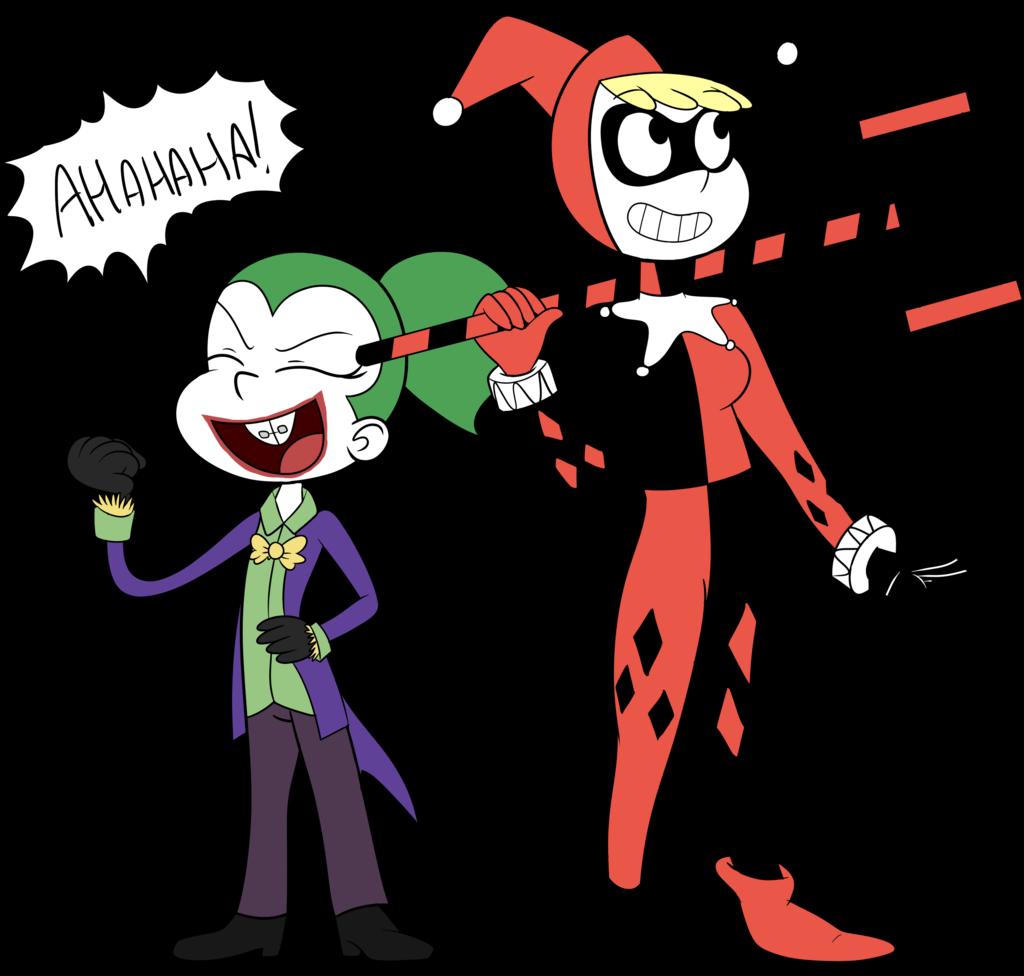 Joker clipart haha. And quinn by retroneb