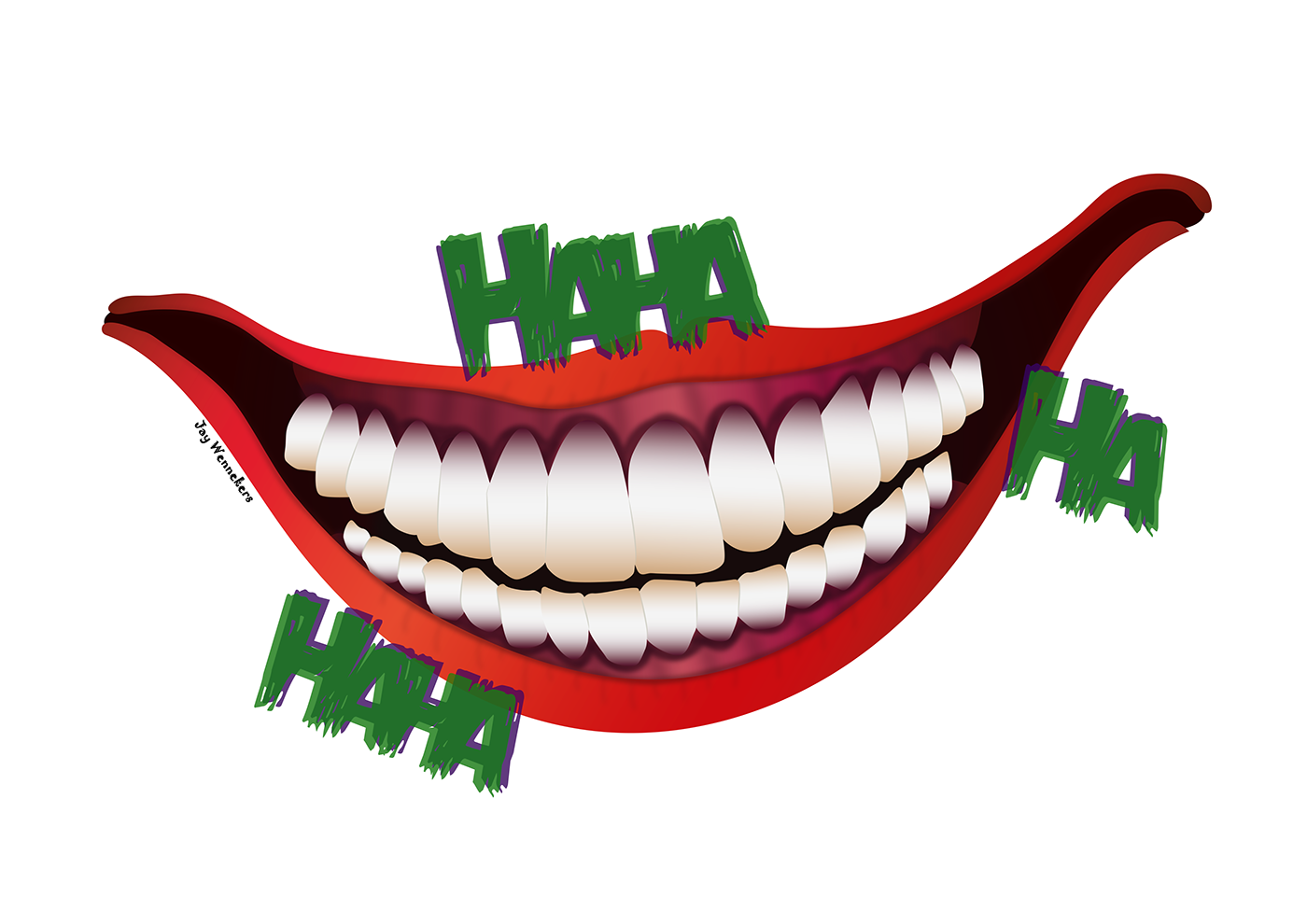 Horror designs in illustrator. Lips clipart clown