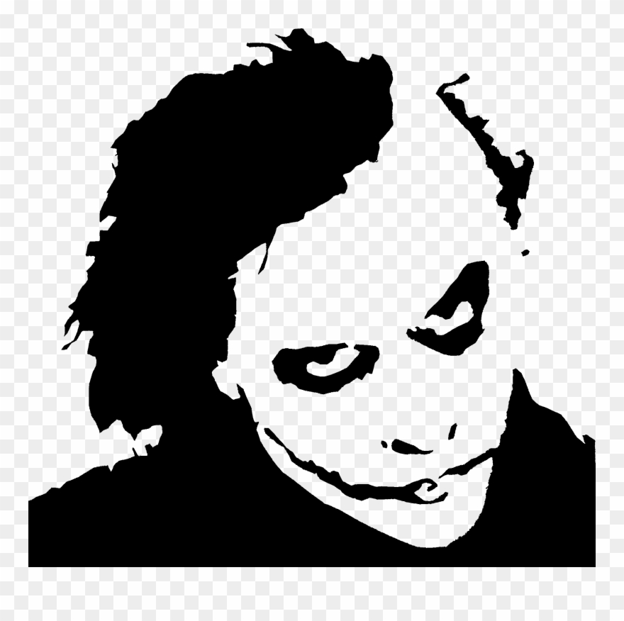 Heath ledger black and. Joker clipart pumpkin stencil