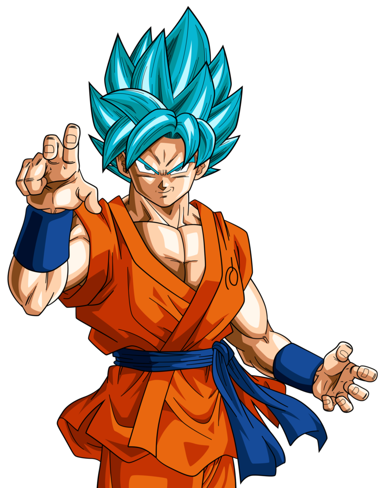 Super saiyan blue goku. Youtube clipart dragon ball z