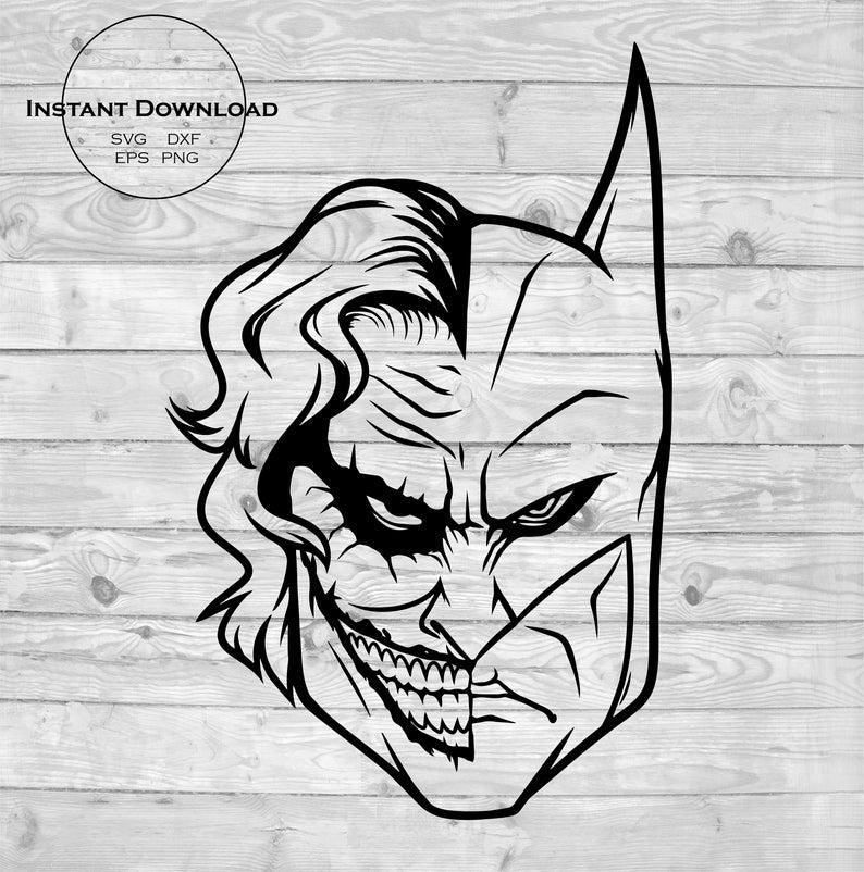 Batman silhouette dc comics. Joker clipart svg