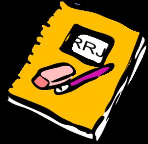 Journal clipart. Reader response clip art