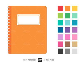 Etsy notebook clip art. Journal clipart