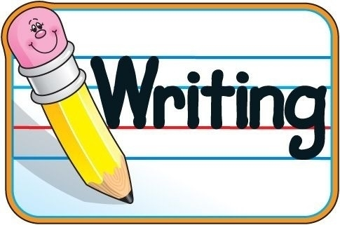 Beautiful of writing letter. Journal clipart