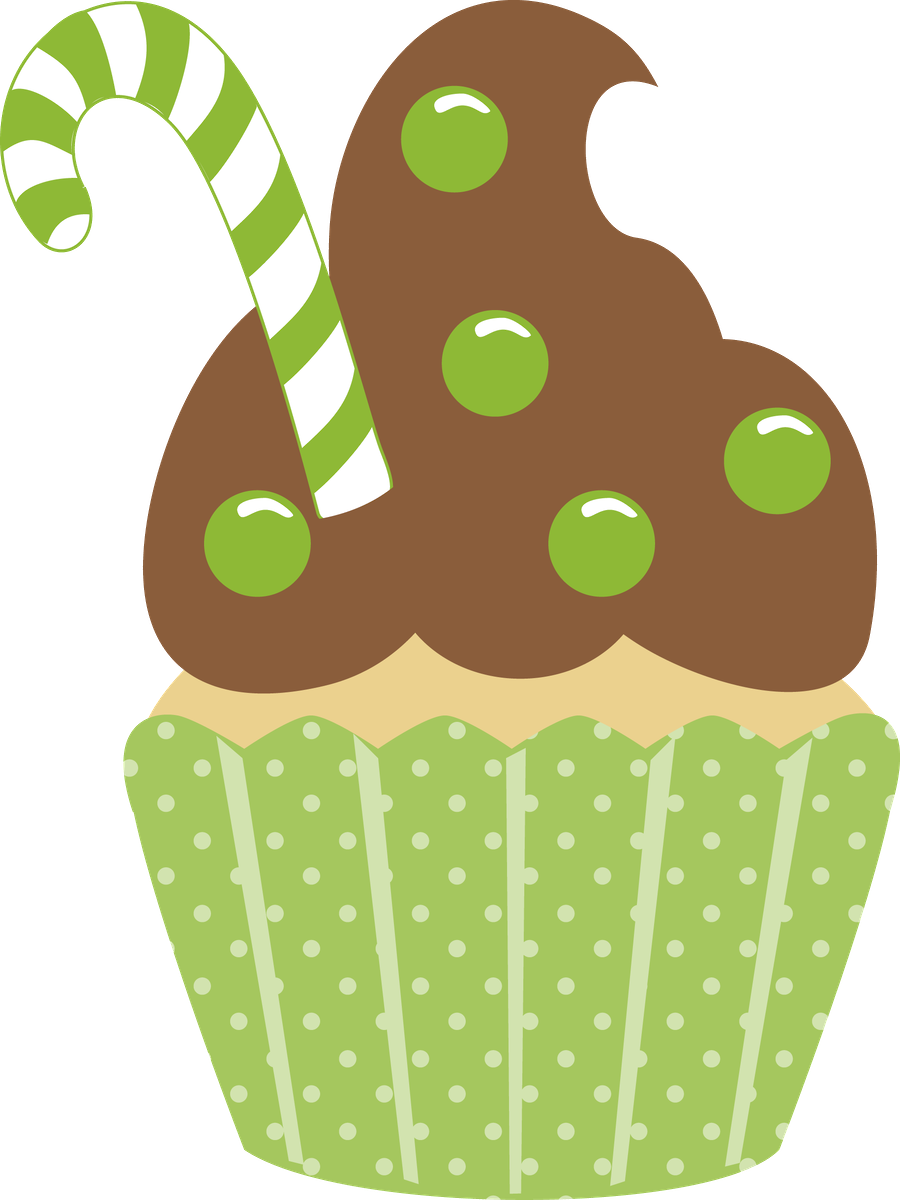 Christmas cupcake clip art. Journal clipart design