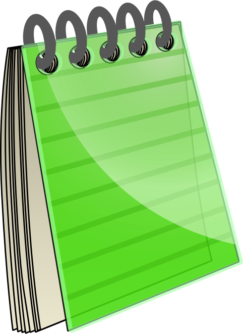 collection of free. Notebook clipart composition notebook