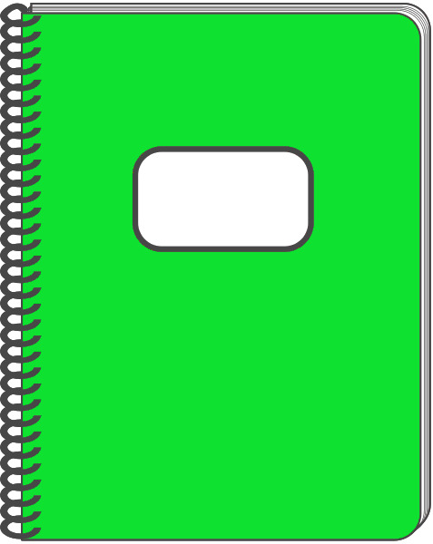 Free picture of a. Notebook clipart green notebook