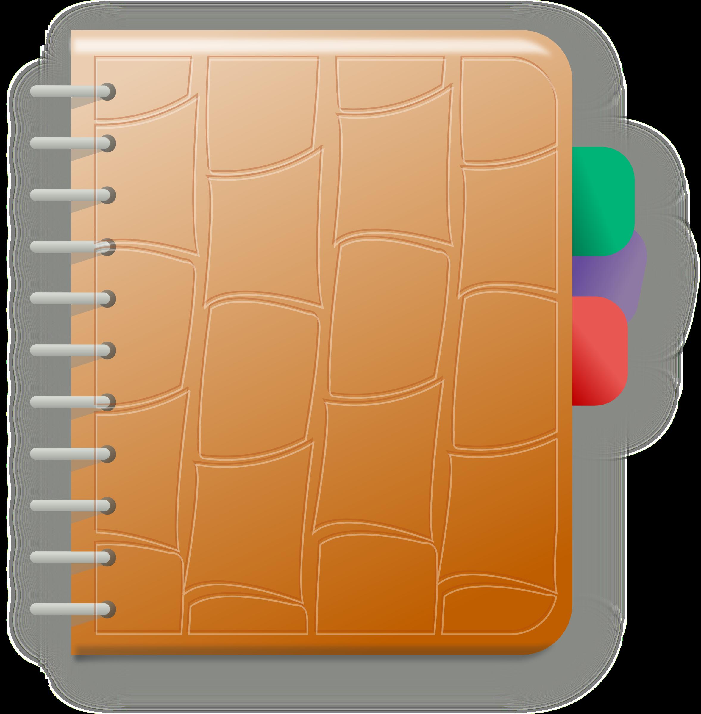Big image png. Notebook clipart orange