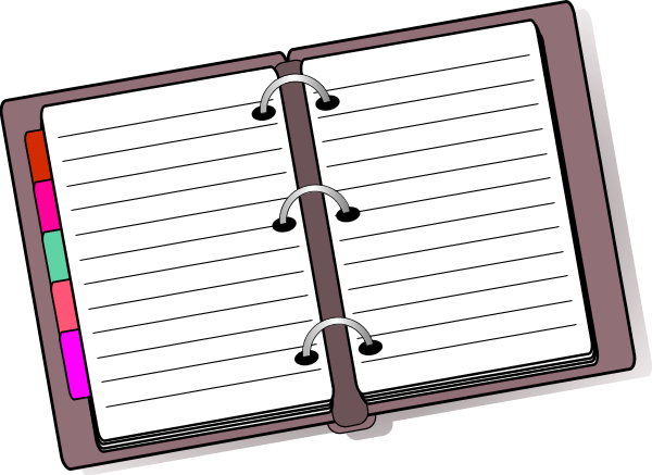Collection of free download. Planner clipart homework diary