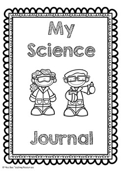 Journal clipart journal cover. Science covers worksheets teaching