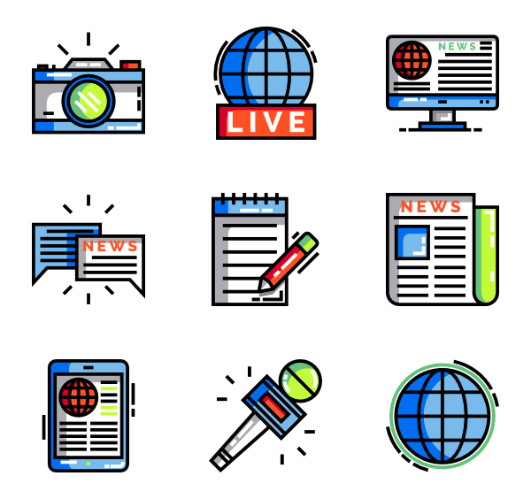 Icons free vector news. Journal clipart newspaper