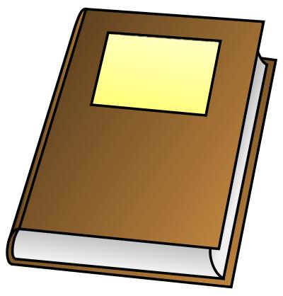 Journal clipart novel. Free brown book public