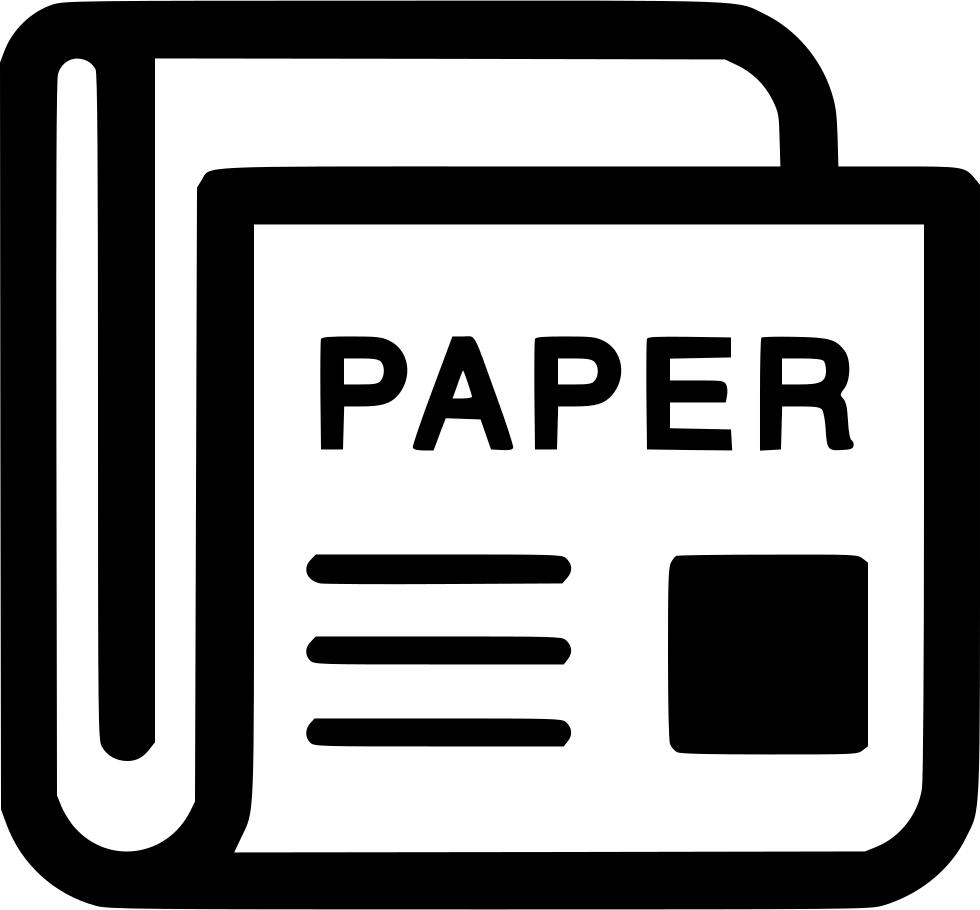 News magazine newspaper svg. Journal clipart paper outline